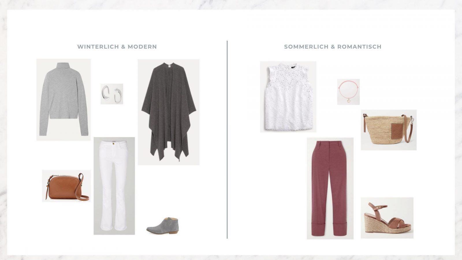 outfits mit weiss, rosa und grau